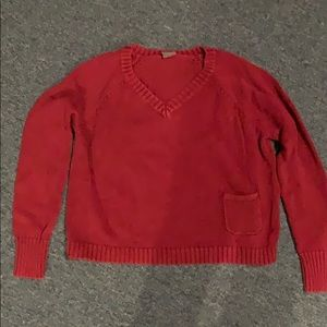 UO Wine Colored Short Sweater